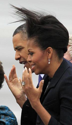 Barack Obama s chotí Michelle na návštěvě Irska