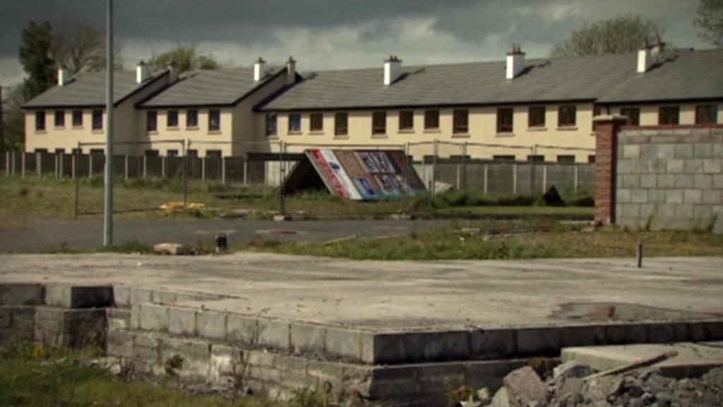 Rozestavěné domy v Irsku