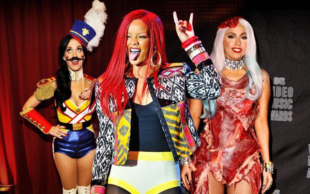 Kate Perry, Rihanna a Lady Gaga