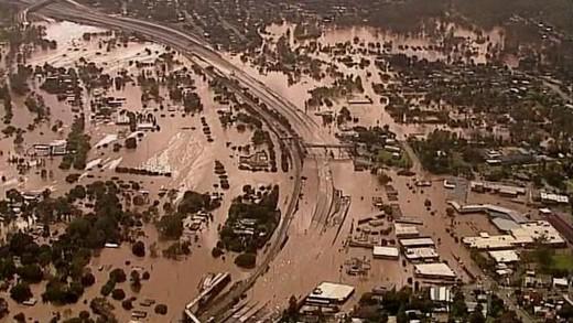 Zaplavené Brisbane