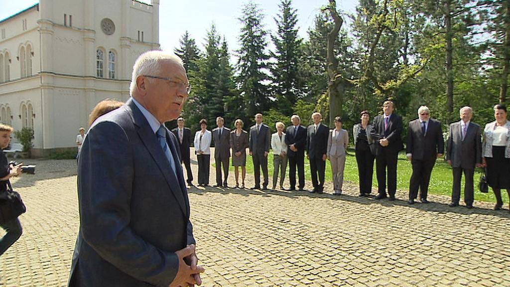 Václav Klaus přivítal rektory