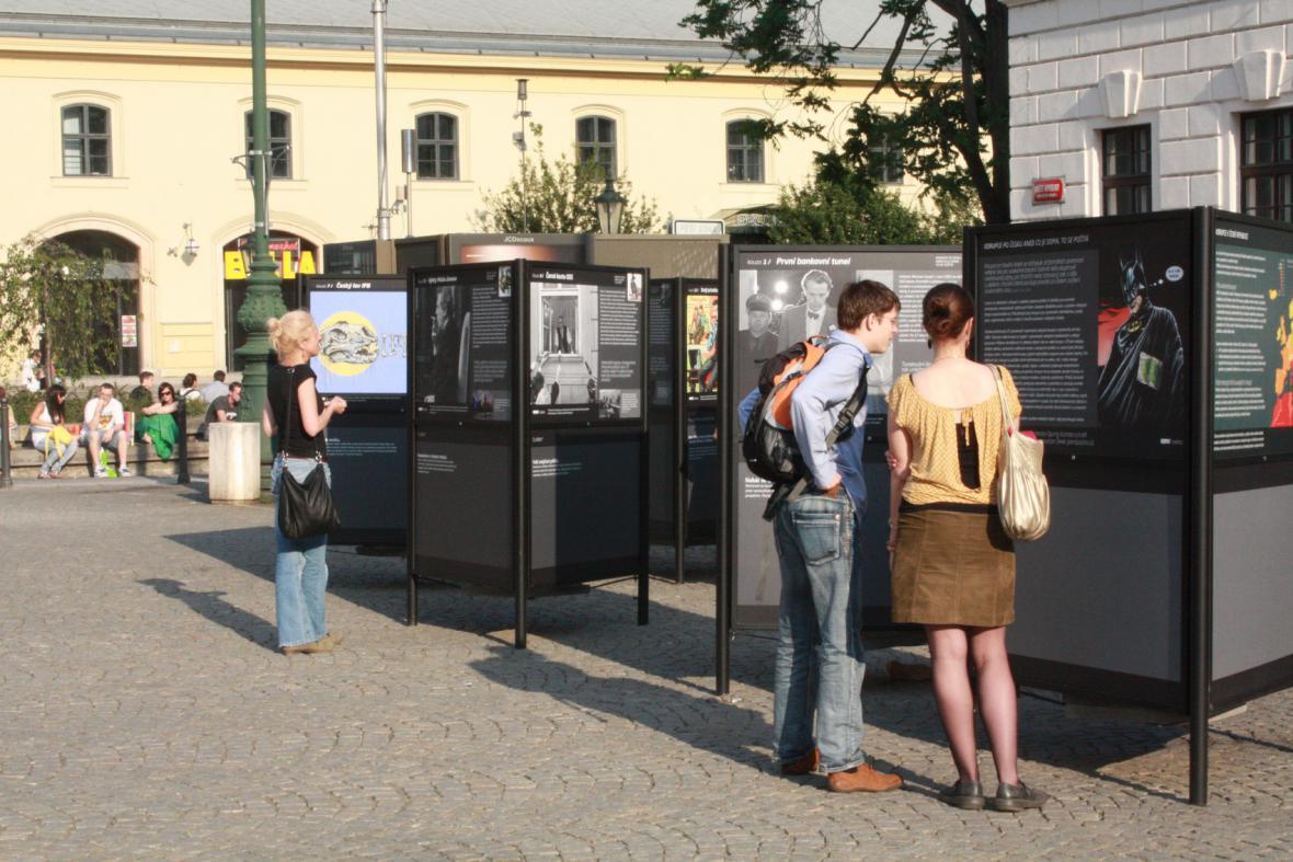 Výstava Korupce po Česku