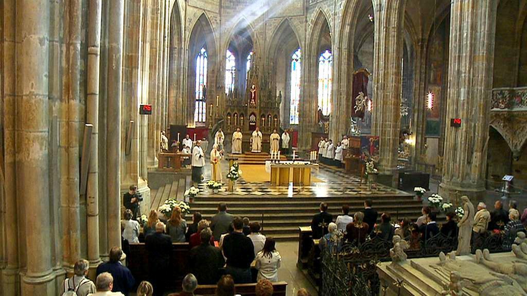Slavnostní mše v katedrále sv. Víta