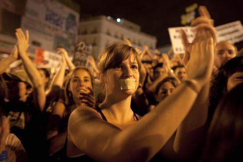 Španělé dávají najevo nespokojenost