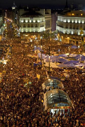 Španělská demonstrace