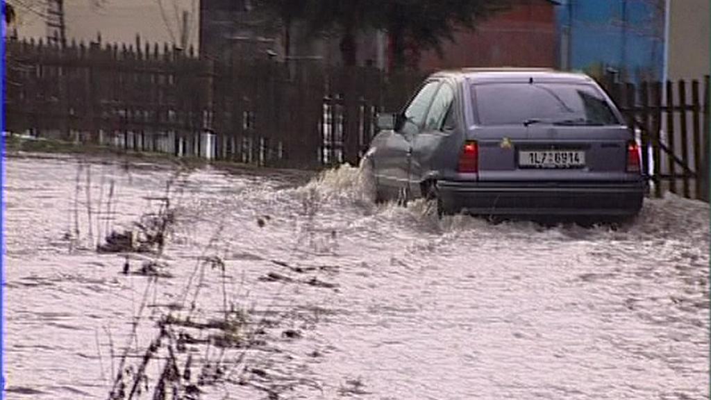 Zákupy při povodni v roce 2004