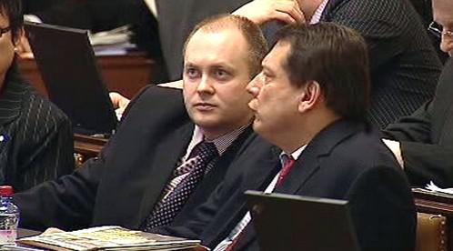 Michal Hašek a Jiří Paroubek
