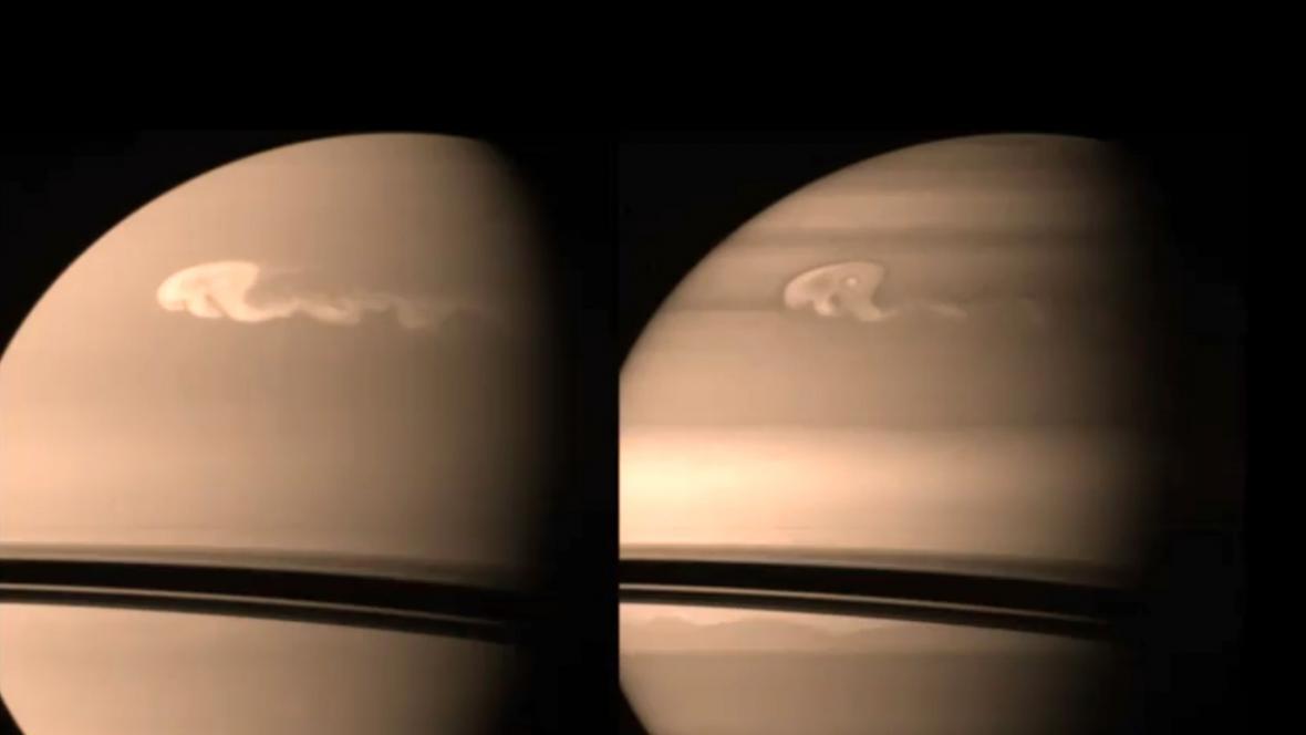 Bouře v atmosféře Saturnu