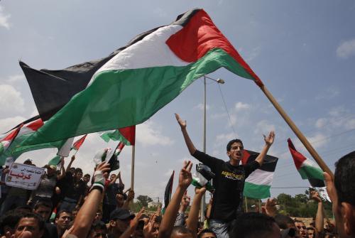 Palestinské protesty k výročí vzniku Izraele