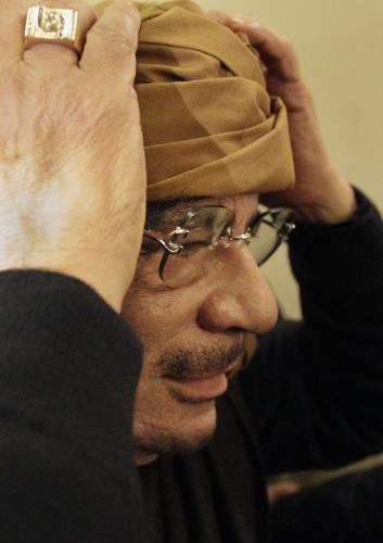 Libyjský vůdce Muammar Kaddáfí