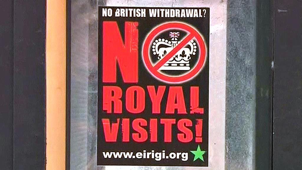 Protest proti návštěvě britské královny