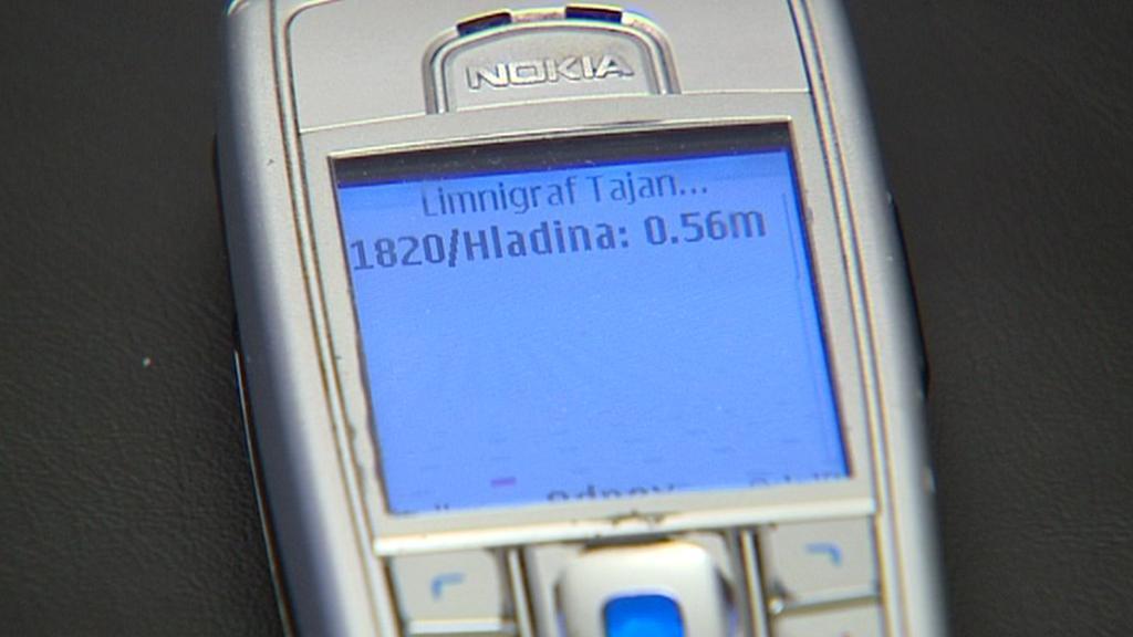 SMS zpráva o stavu vody