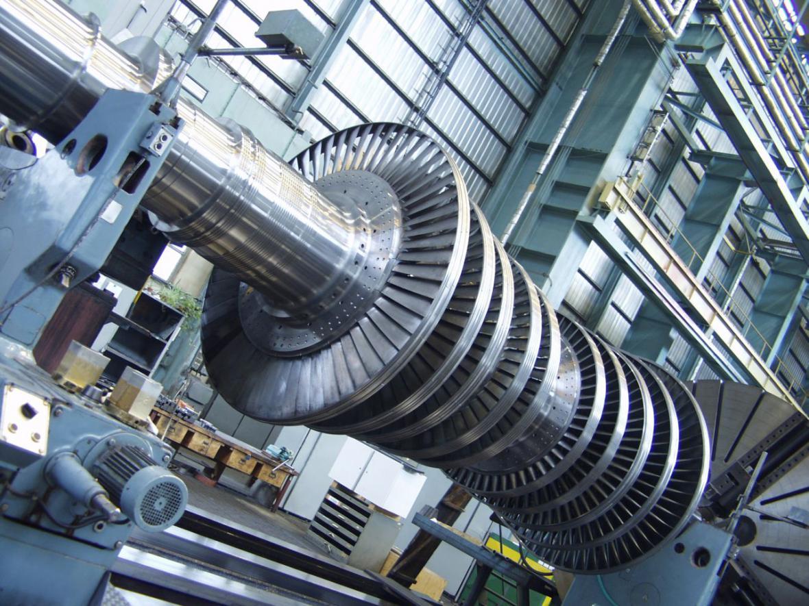 Část jaderné turbíny