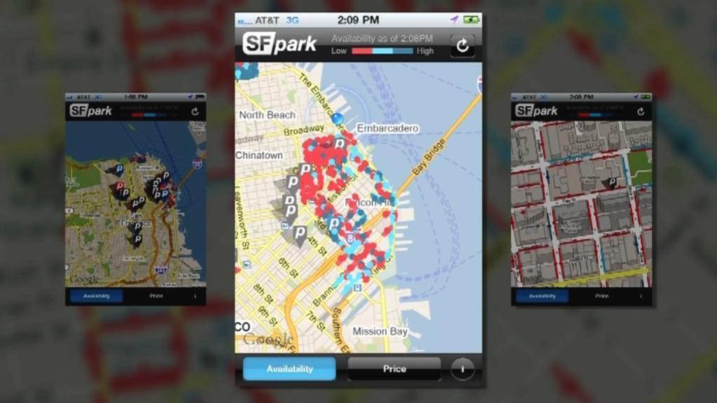 Aplikace k parkování v San Franciscu