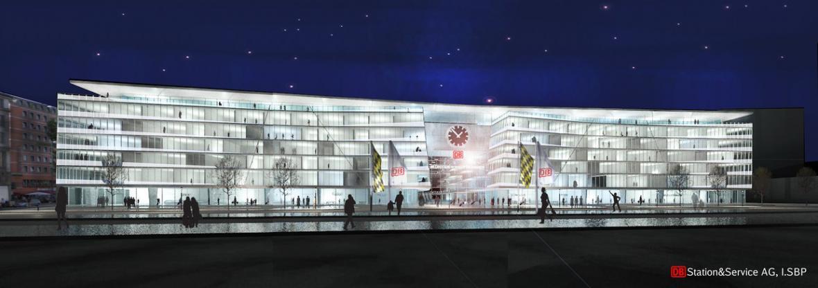 Mnichovské hlavní nádraží – vizualizace