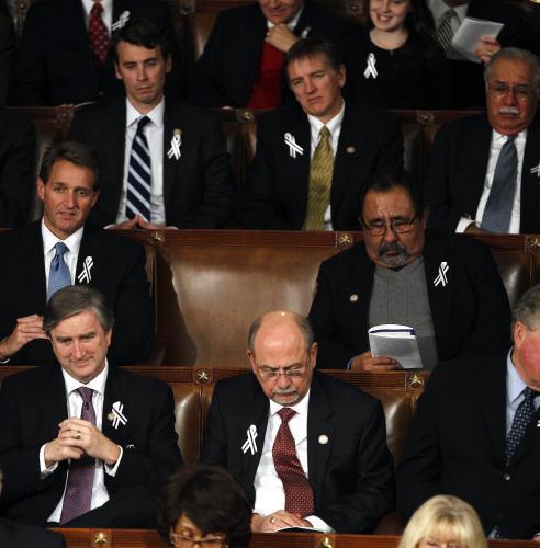 Prázdné křeslo kongresmanky Gabrielle Giffordsové