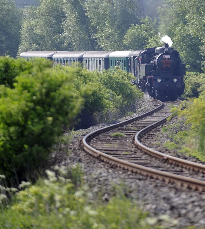 Jízda historického vlaku