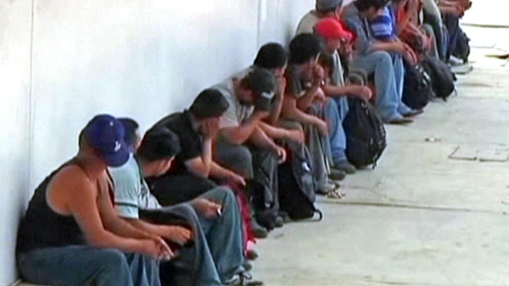 Zadržení běženci na mexicko-guatemalských hranicích
