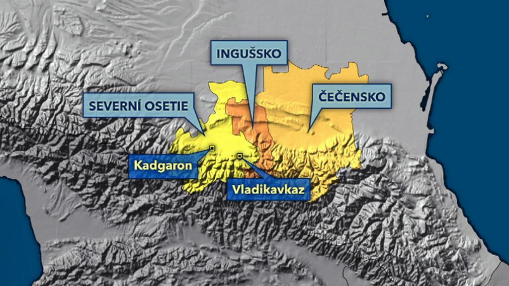 Severní Osetie, Ingušsko a Čečensko
