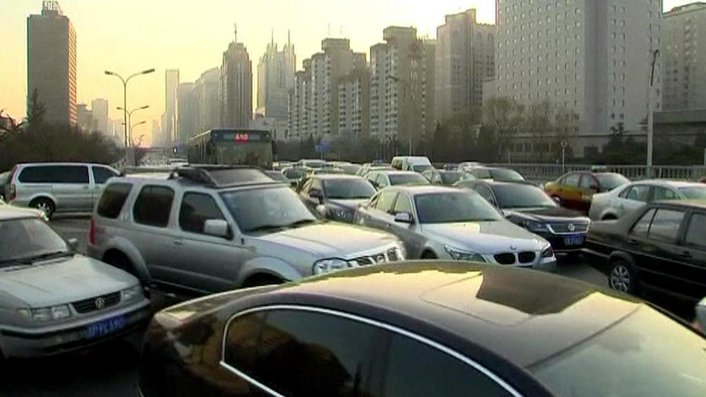 Dopravní zácpa v Pekingu