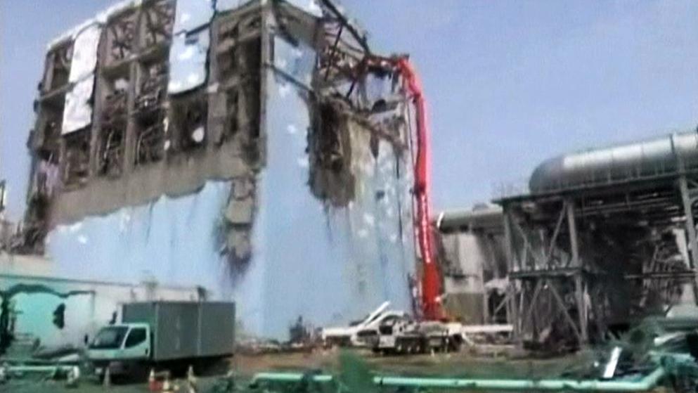 Poškozená jaderná elektrárna Fukušima