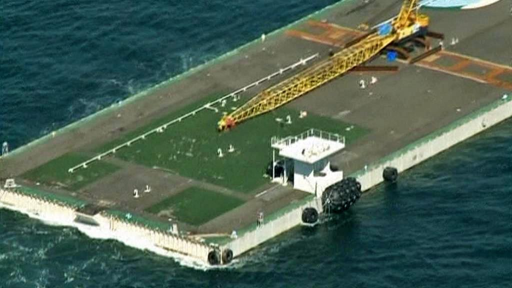 Námořní plošina míří k Fukušimě