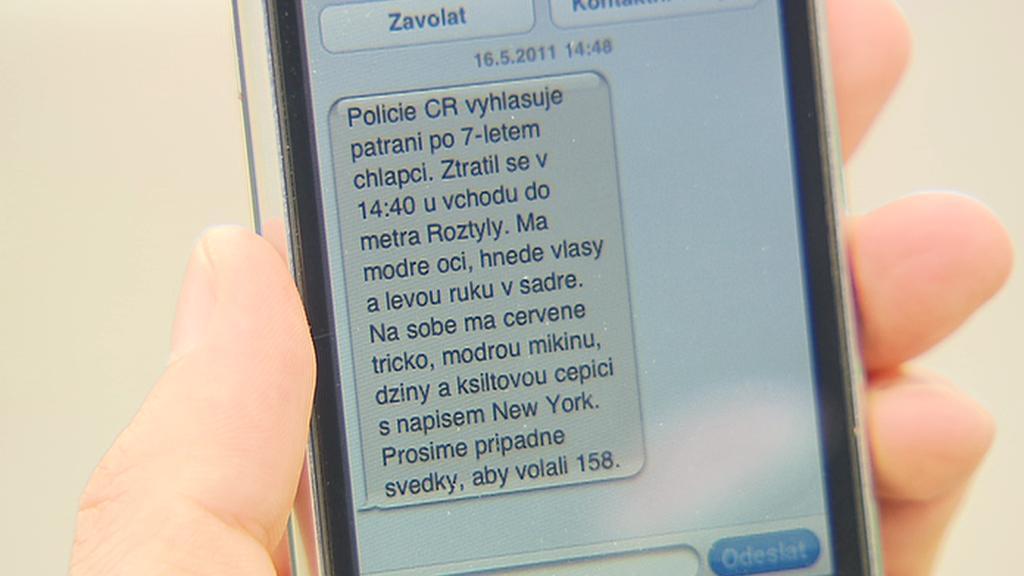 Pátrání po dětech pomocí SMS