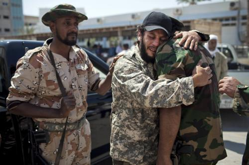 Libyjští povstalci oplakávají své oběti
