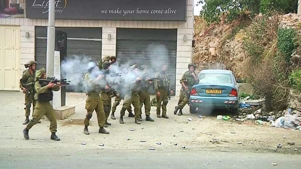 Izraelský zásah proti palestinské demonstraci