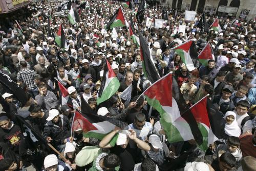 Palestinské demonstrace k výročí vzniku Izraele