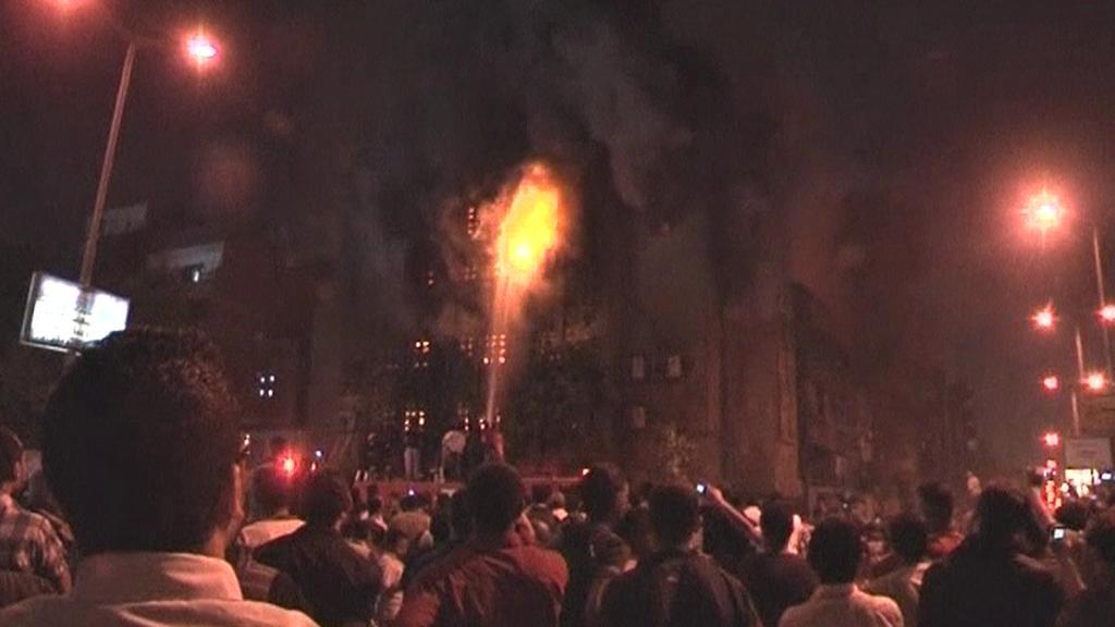Hořící kostel v Káhiře