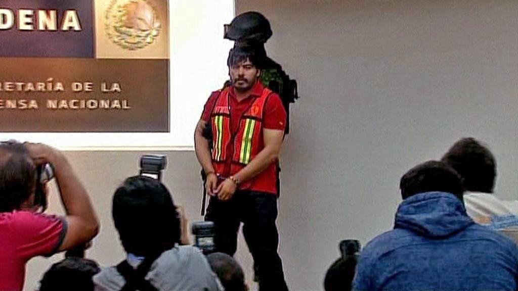 Zatčený Martín Beltrán Coronel, zvaný \