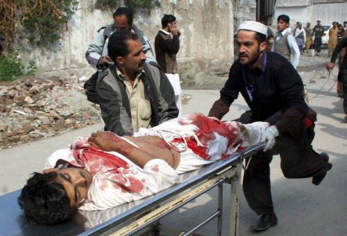 Oběť násilí v Pákistánu