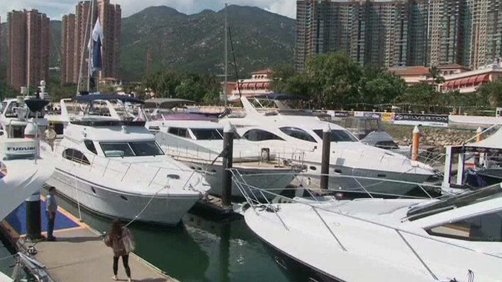 Luxusní jachty v Číně