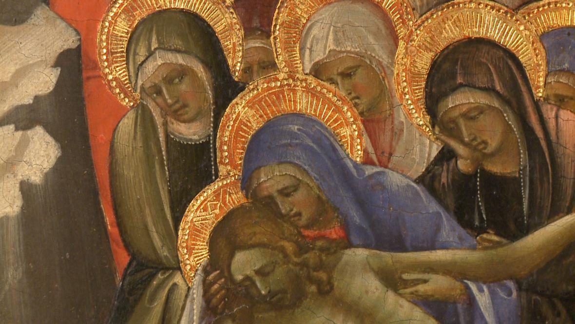 Lorenzo Monaco / Oplakávání Krista ( detail)