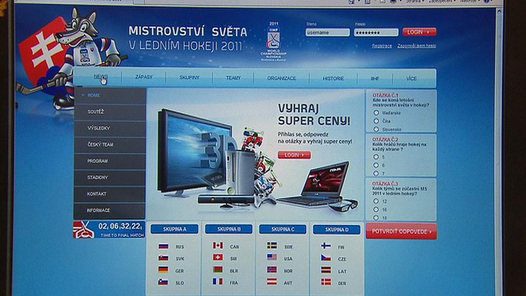 Stránka ms2011.cz