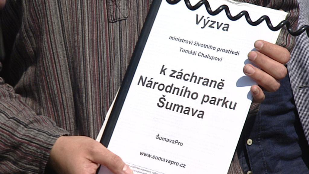Výzva k záchraně Národního parku Šumava
