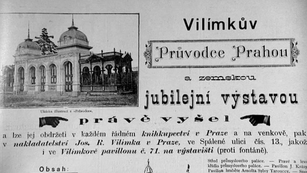 Vilímkův Průvodce Prahou a jubilejní zemskou výstavou