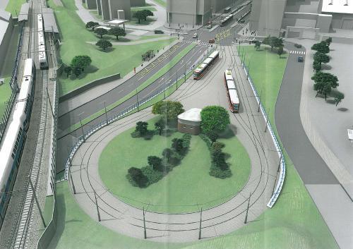 Vizualizace nové tramvajové smyčky