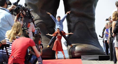Cannes 2011 / Antonio Banderas a Salma Hayeková