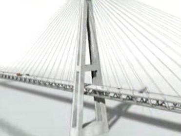 Projekce nejdelšího mostu v Evropě