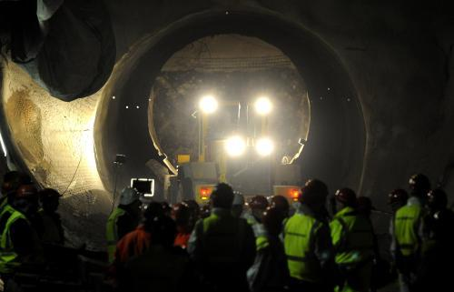 Ražba tunelu Blanka