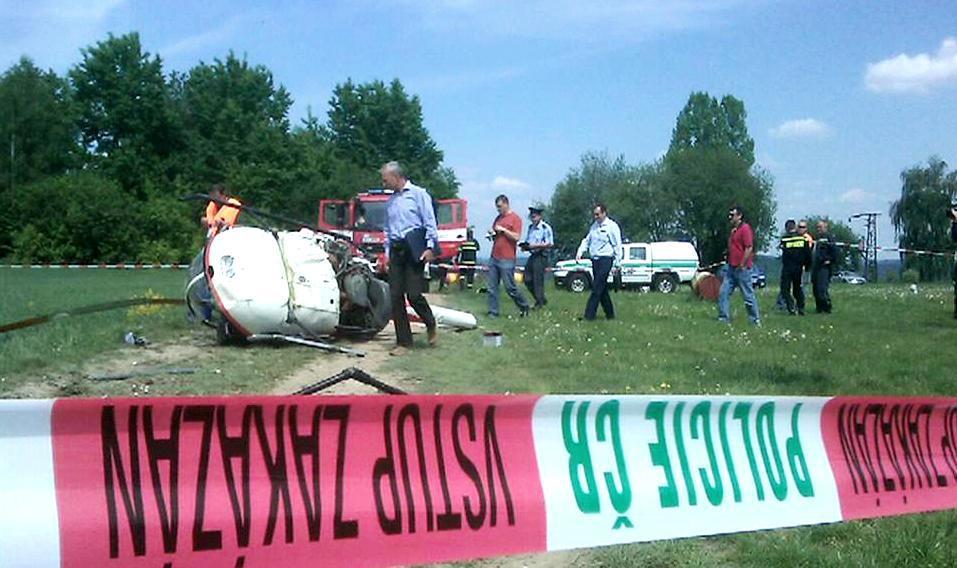 Havárie vrtulníku u Skutče