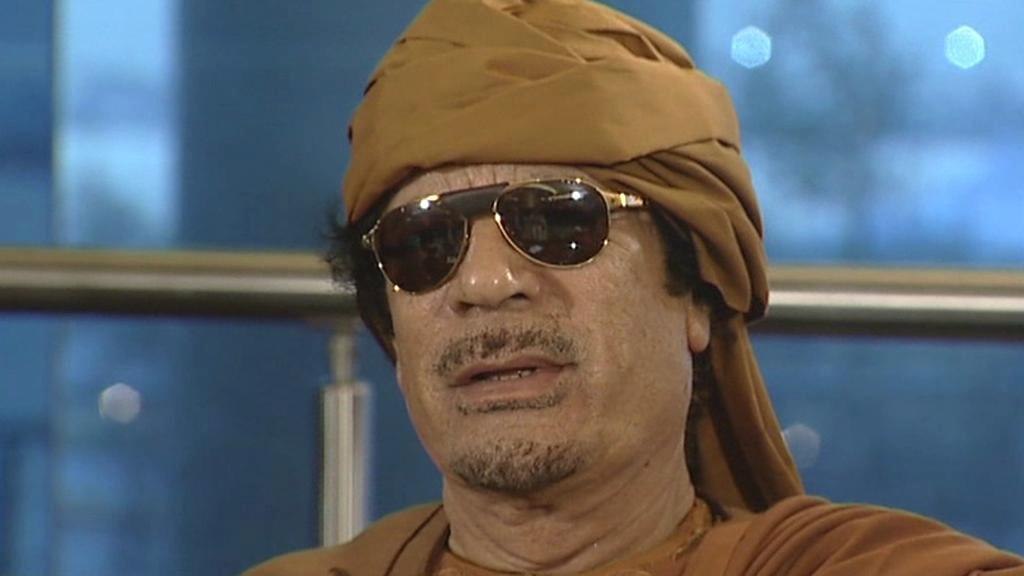 Muammar Kaddáfí při rozhovoru pro ABC