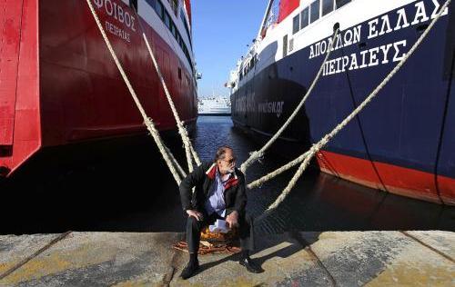 Stávka ochromila řecké přístavy