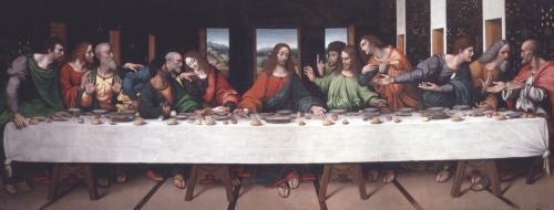 Kopie Leonardova obrazu Poslední večeře