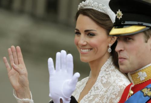 Královští novomanželé Kate a William