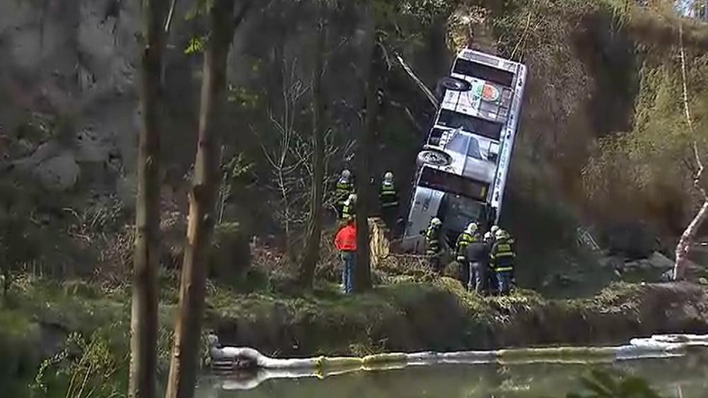 Autobus po nehodě