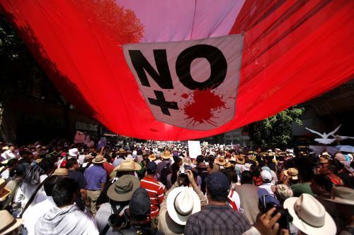 Mexičané pochodem připomněli oběti drogového násilí