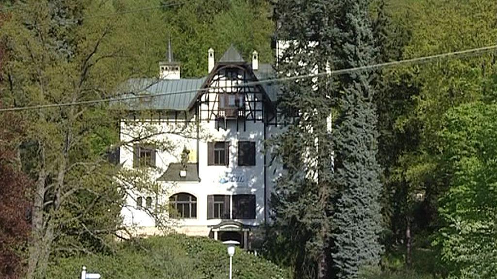 Pohled na vilu LIL v Mariánských Lázních